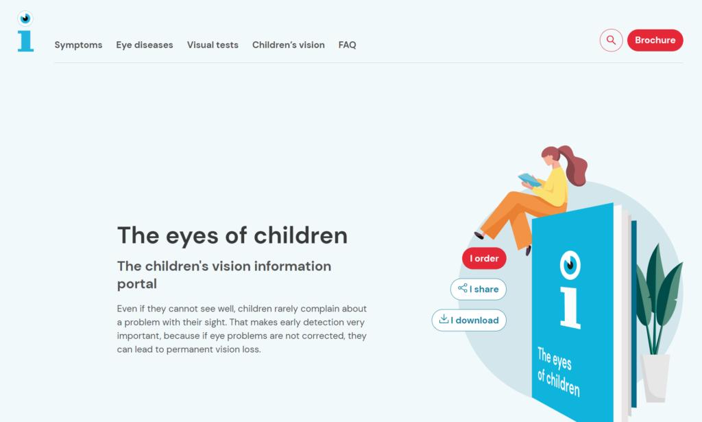 the eye of children